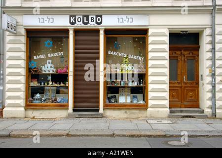 Jüdische Bäckerei Auguststraße im Ost-Berliner jüdischen Viertel. - Stockfoto