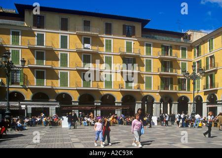Placa Major in Palma auf der Insel Mallorca - Stockfoto