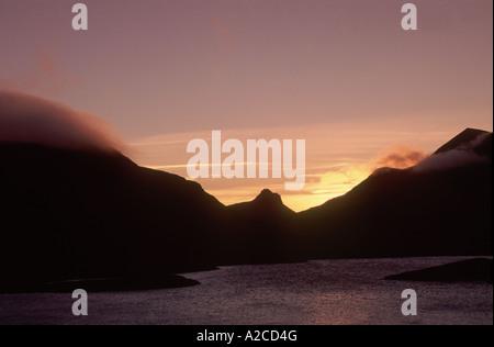 Stac Polly von Loch Drumrunie Wester Ross, Schottland.  GPL 4342-409 - Stockfoto