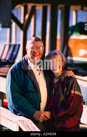 Älteres Paar im freien Herr - Stockfoto