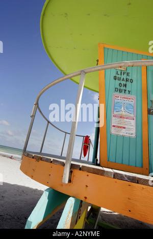 Art-Deco-Strandhütte auf South Beach Miami Florida - Stockfoto