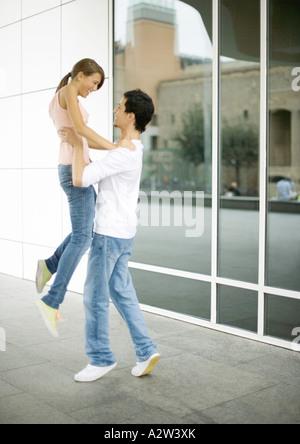 Teen junge Freundin abholen - Stockfoto