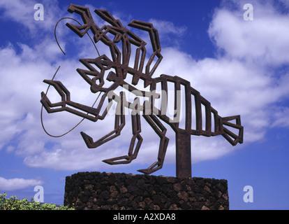 dh JAMEOS DEL AGUA LANZAROTE Scorpion Metall-Skulptur Kunstwerk - Stockfoto