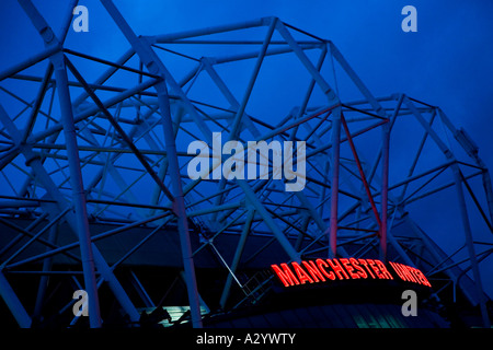 Altes Trafford Fußball Stadion Manchester United Football Club Haus Boden Manchester Lancashire England UK GB - Stockfoto