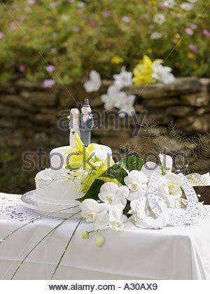 Hochzeitstorte - Stockfoto