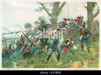 Schlacht von Wert 1870 - Stockfoto