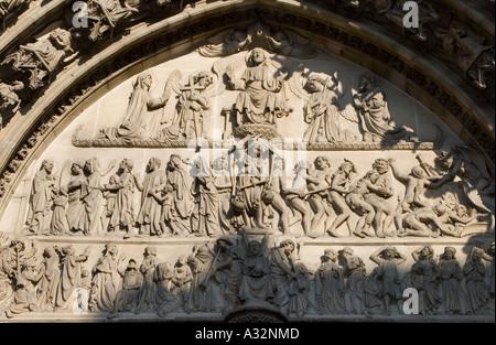 herrliche Skulpturen Antwerpen-Belgien Stockfoto