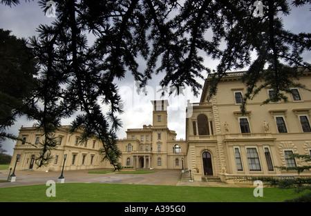Osborne House in der Nähe von East Cowes auf der Isle Of Wight Landsitz und Familie Haus von Königin Victoria und - Stockfoto