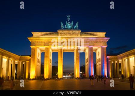 Berlin Brandenburger Tor Paris quadratische Quadriga Brandenburger Tor-Pariser Platz Quadriga - Stockfoto