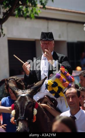 Festes de Sant Joan - Ciutadella Menorca Spanien - Stockfoto