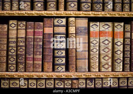 Alten lateinischen Bücher in Melk Abtei, Österreich - Stockfoto