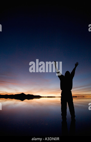 Mann zu Fuß auf dem Wasser - Stockfoto