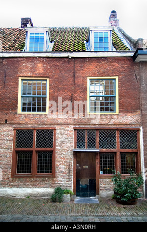 Museum Pilger Leiden Niederlande Holland Beschuitsteeg John Robinson Pilgerväter - Stockfoto
