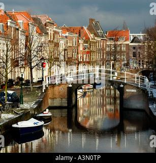 Canal de Vliet Leiden Niederlande Holland John Robinson Pilgerväter Pilger - Stockfoto