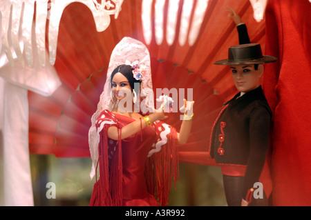 Figuren der spanischen Tänzerinnen Sevilla Andalusien Spanien - Stockfoto