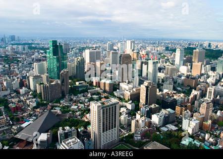 Luftaufnahme von Tokio gesehen vom Tokyo Tower, Tokyo, Japan, Asien - Stockfoto