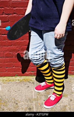 Skateboard-Mädchen - Stockfoto