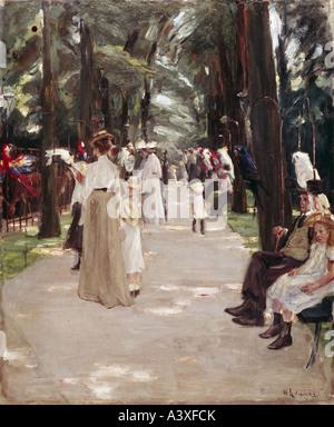 """Fine Arts, Liebermann, Max (1847-1935), Malerei,""Papageienallee"", (""Papagei Avenue""), 1902, Öl auf Leinwand, 88 - Stockfoto"