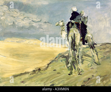 """Bildende Kunst, Slevogt, Max (8.10.1868 - 20.9.1932), Malerei""Sandsturm in der Wüste"", 1914, Gemäldegalerie Dresden - Stockfoto"