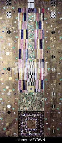 """""""Fine Arts, Klimt, Gustav, (1862-1918), Malerei,""""Dekorplatte""""circa 1905 / 1909, verschiedenen Materialien auf Leinwand, - Stockfoto"""