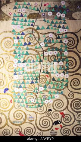 """""""Bildende Kunst, Klimt, Gustav, (1862-1918), Malerei,""""Lebensbaum"""", (""""Baum des Lebens""""), ca. 1905 / 1909, verschiedene Materialien auf"""