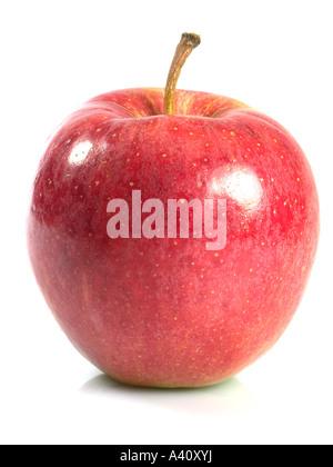 Roter Apfel Makro isoliert auf weiss - Stockfoto