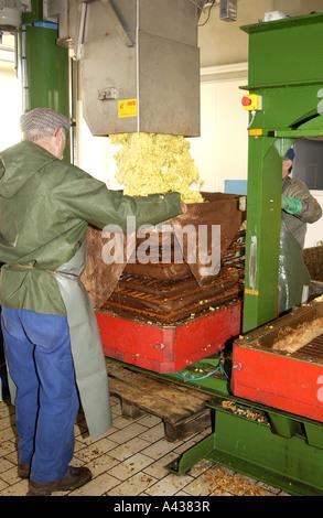 Apfel-Getränke-Produktion in Secondigny - Stockfoto