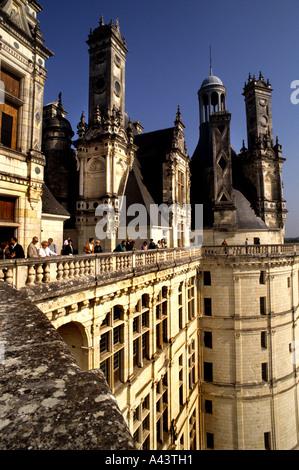 Schloss Blois Centre Frankreich französische Loire Schloss - Stockfoto