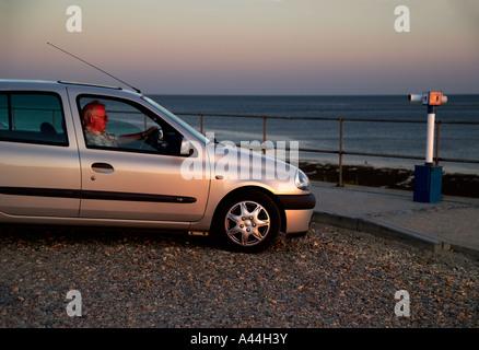 Auto geparkt East Wittering, West Sussex, UK