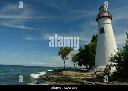 AJD57741, Marblehead, OH, Ohio, Lake Erie, Marblehead Leuchtturm State Park - Stockfoto