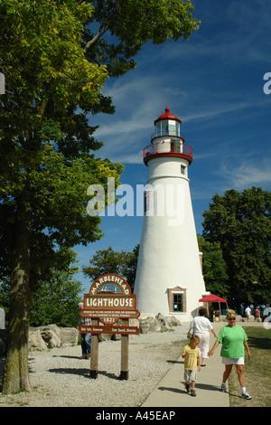 AJD57742, Marblehead, OH, Ohio, Lake Erie, Marblehead Leuchtturm State Park - Stockfoto