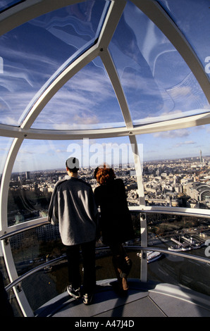 London eye das british Airways London Eye Southbank Fluss Themse Londonview über das Westend - Stockfoto