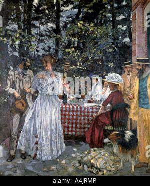 """""""Mittagessen an Vasouy"""", 1901. Artist: Edouard Vuillard - Stockfoto"""