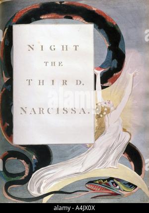 """'Nacht der Dritte Narzissa', title-Seite aus der """"Nacht"""" von Edward Young's Nacht Gedanken, c 1797. Künstler: William - Stockfoto"""