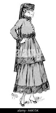 Der Kaschmir woman fashion mit Seide Grenze, 1915. Artist: Unbekannt - Stockfoto