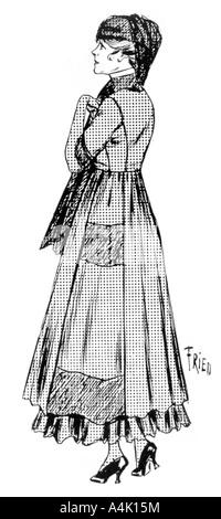 Woman's Wrap mit crêpe Saum und seidene Schleier, 1915. Artist: Unbekannt - Stockfoto