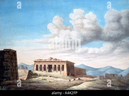 """'Ansicht eines Ägyptischen Tempel, Dendera"""", 19. Artist: Unbekannt - Stockfoto"""