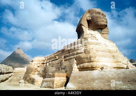 Die Große Sphinx von Gizeh, Ägypten, 20. Artist: Unbekannt - Stockfoto
