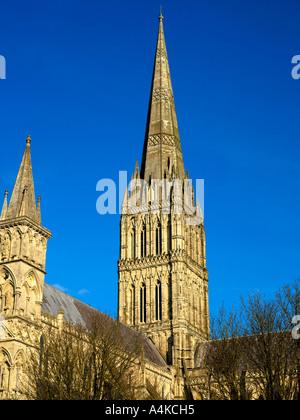 Salisbury Wiltshire England Salisbury Cathedral höchster Spire in Großbritannien - Stockfoto