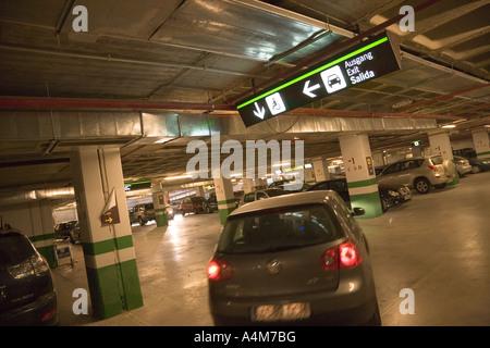 Parkplatz am Flughafen von Malaga Malaga Provinz Costa del Sol Spain - Stockfoto