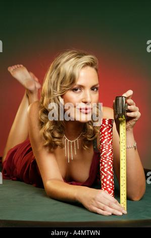 Casino-Mädchen - Stockfoto