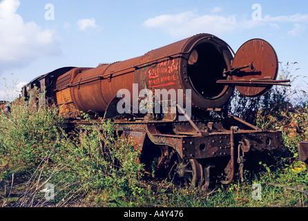 Dampfmaschine verkauft für Schrott Barry South Wales UK - Stockfoto