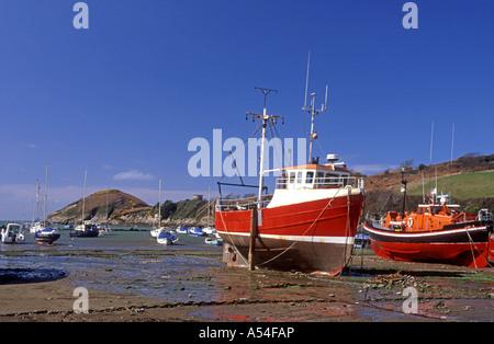 Watermouth North Devon bietet eine geschützte Bucht und Bootsliegeplatz.  XPL 4763-447 - Stockfoto