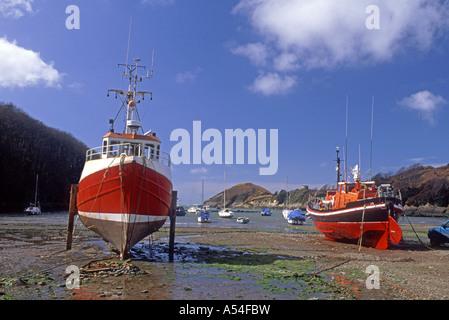 Watermouth North Devon bietet eine geschützte Bucht und Bootsliegeplatz.  XPL 4764-447 - Stockfoto