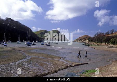 Watermouth North Devon bietet eine geschützte Bucht und Bootsliegeplatz.  XPL 4766-447 - Stockfoto