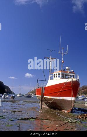 Watermouth North Devon bietet eine geschützte Bucht und Bootsliegeplatz.   XPL 4762-446 - Stockfoto