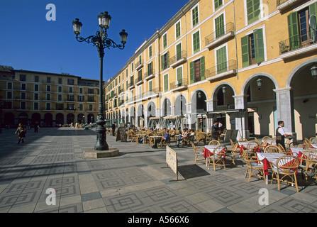 Palma De Mallorca Placa Major - Stockfoto