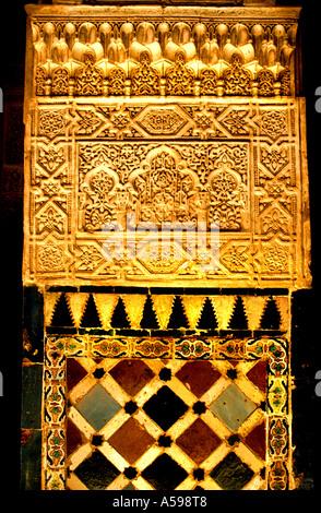 Alhambra Granada Spanien Andalusien golden palace - Stockfoto