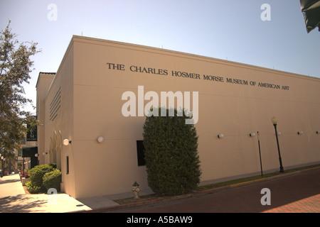 Das Charles Hosmer Morse Museum für amerikanische Kunst, Winter Park, Orlando, Florida, USA - Stockfoto