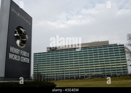 Welthauptquartier der Ford Motor Company in Dearborn, Michigan - Stockfoto